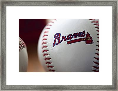 Braves Baseball Framed Print