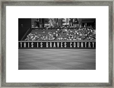 Braves Country Framed Print by Sara Jackson