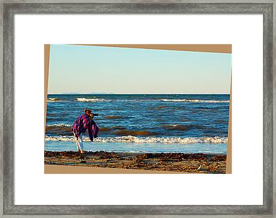 Braving For That Perfect Shot Framed Print