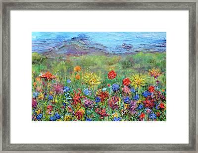 Brazen Blooms Print Option 2 Framed Print by Regina Valluzzi