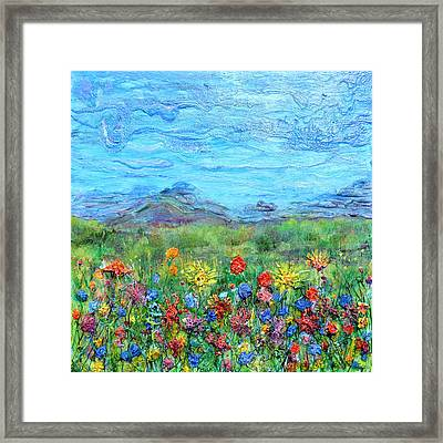 Brazen Blooms Framed Print by Regina Valluzzi