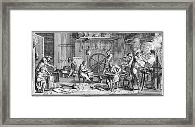 Brazier, 18th Century Framed Print