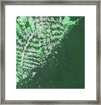 Brazil-bolivia Border Framed Print