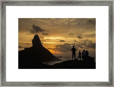 Brazil, Pernambuco, People Admiring Framed Print by Dosfotos