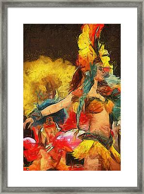 Brazilian Carnival Framed Print by Ayse Deniz