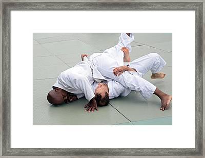 Brazilian Jiu-jitsu Framed Print by Jim West
