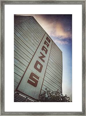 Brazos Drive-in Theater Framed Print by Pair of Spades