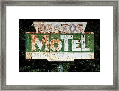 Brazos Motel Framed Print by Ricardo J Ruiz de Porras