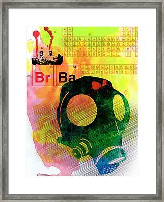 Brba Watercolor Framed Print
