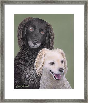 Framed Print featuring the painting Brea And Randy by Jane Girardot