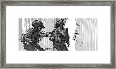Breach And Clear Framed Print by Anthony Mata