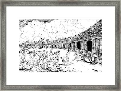 Bread And Circus, Gladiators, Ancient Framed Print