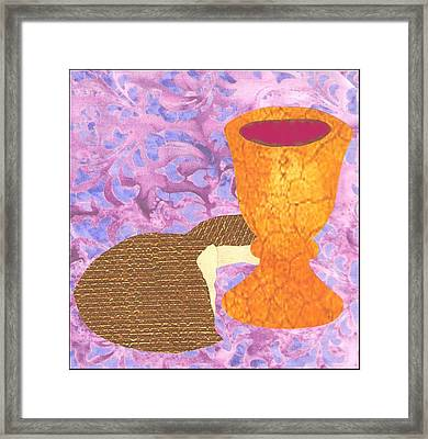 Bread And Cup Framed Print