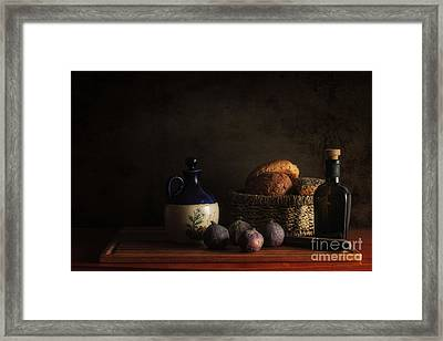 Bread And Figs Framed Print