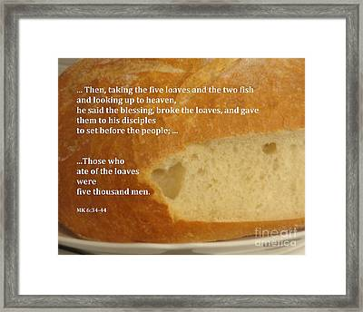 Bread  From The Heart Framed Print by Christina Verdgeline