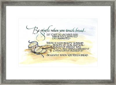 Bread Framed Print by Judy Dodds