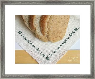 Bread Of Life Framed Print by Ann Horn