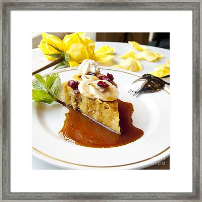 Bread Pudding Framed Print by New  Orleans Food