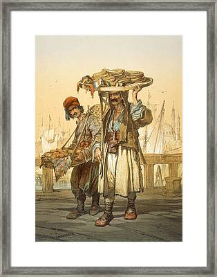 Bread Sellers On The Quay, 1865 Framed Print