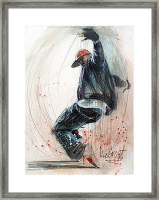 Break Dancer2 Framed Print