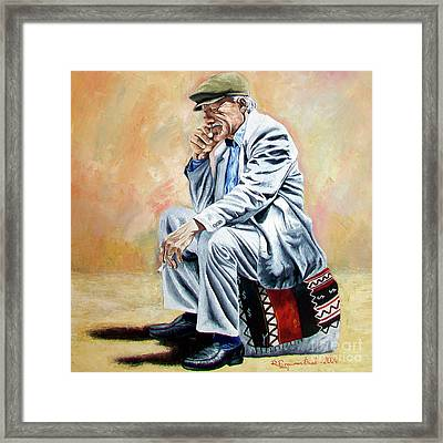 Break For Smoking - Apeadero Para Fumar Framed Print