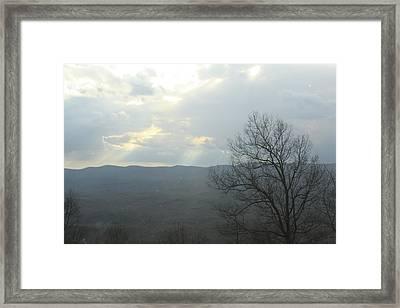 Break In Clouds Framed Print by Robert Hebert