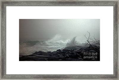 Break In The Storm Framed Print by Christopher Mace