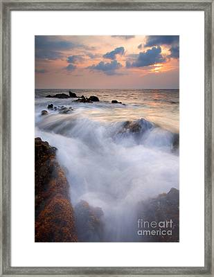 Break In The Storm Framed Print by Mike  Dawson