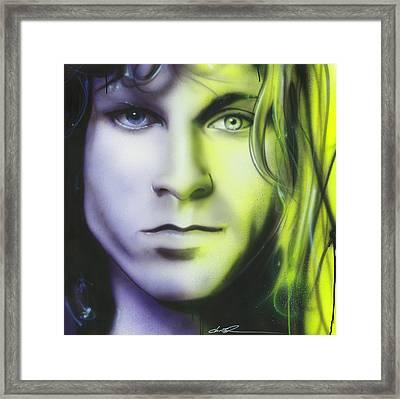 Jim Morrison - ' Break On Through To Lithium ' Framed Print
