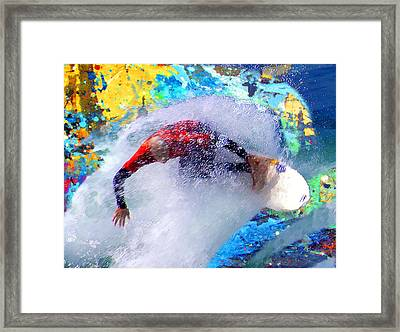 Break On Through To The Other Side Framed Print by Ron Regalado