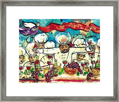 Break The Bread Drink The Wine Eat The Truffles Framed Print