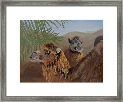 Framed Print featuring the painting Break Time by Karen Ilari