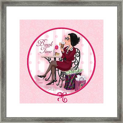 Break Time Framed Print by Shari Warren