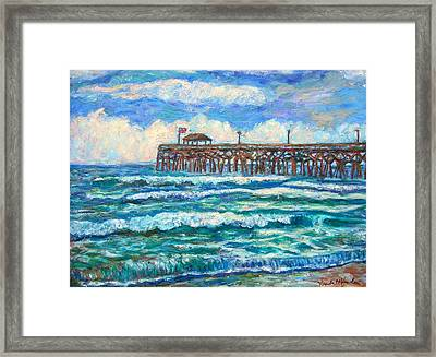 Breakers At Pawleys Island Framed Print
