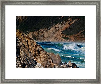 Breakers At Pt Reyes Framed Print by Bill Gallagher