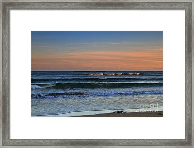 Breakers At Sunset Framed Print by Louise Heusinkveld