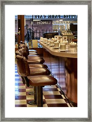 Breakfast And Lunch Framed Print