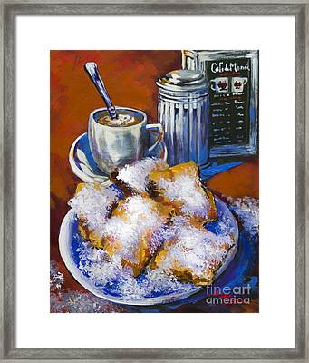 Breakfast At Cafe Du Monde Framed Print