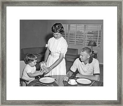 Breakfast At Home Framed Print