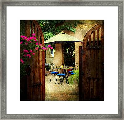 Breakfast At Josephinas Framed Print by Barbara Chichester