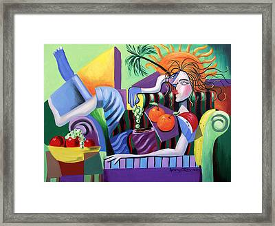 Breakfast At Tiffanie's  Framed Print by Anthony Falbo