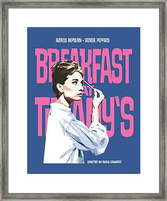 Breakfast At Tiffany's Framed Print by Douglas Simonson