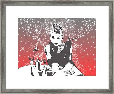 Breakfast At Tiffany's Framed Print by Ryan Burton