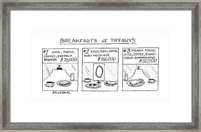 Breakfast At Tiffany's Framed Print by Stuart Leeds