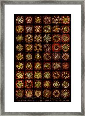 Breakfast Bagels Dingbat Quilt Framed Print by Ann Stretton