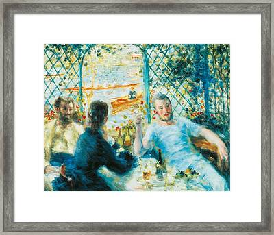 Breakfast By The River Framed Print