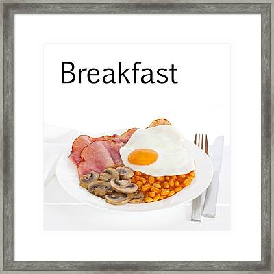 Breakfast Concept Framed Print by Colin and Linda McKie