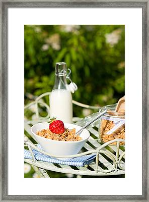 Breakfast Dining Framed Print by Amanda Elwell