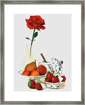Framed Print featuring the photograph Breakfast For Lovers by Elf Evans