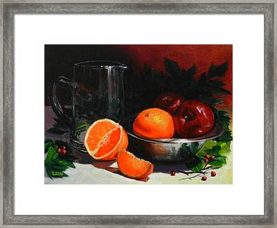 Breakfast Fruits Framed Print